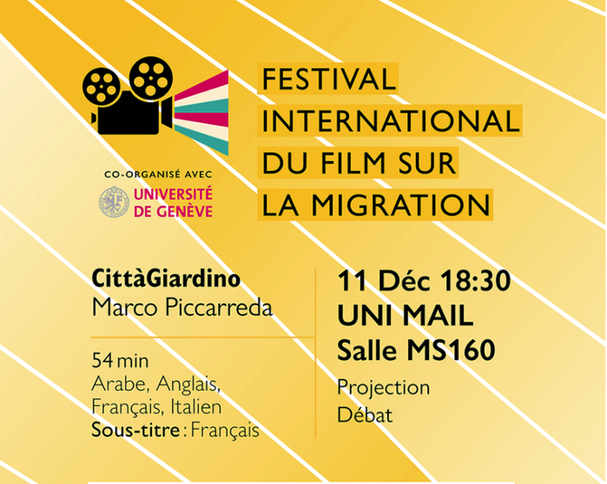 Projection à Genève du film «CittàGiardino», au Global Migration Film Festival